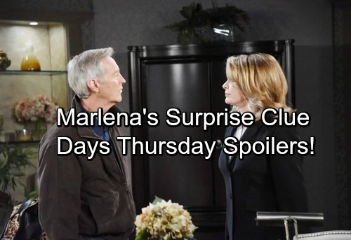 Days of Our Lives Spoilers: Thursday, September 14 - Marlena's Surprise Clue – Sheila's Bad News for Adrienne