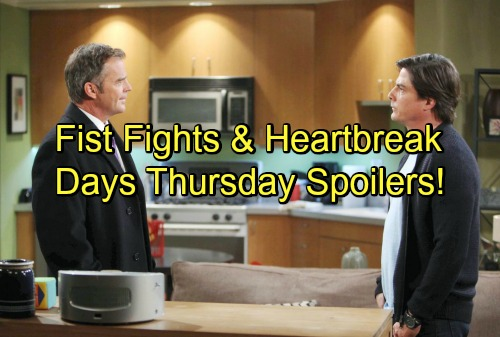 Days of Our Lives Spoilers: Abigail's Secret Causes Drama – Lucas and Justin Rage On - Gabi Sends Mixed Signals