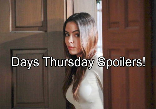 Days of Our Lives Spoilers: Ciara Humiliated by Chad's Rejection, Spots Theo and Claire's Kiss – Belle and Kayla Rescue Jennifer