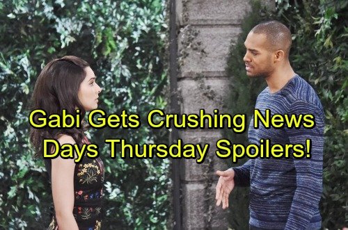 Days of Our Lives Spoilers: Gabi Gets Upsetting News – Chloe's Warning Comes Too Late – Rafe and Hope's Tricky Rivalry