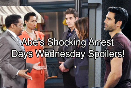 Days of Our Lives Spoilers: Wednesday, August 16 - Abe's Stunning Arrest, Hope and Rafe Put The Cuffs On Shocked Mayor