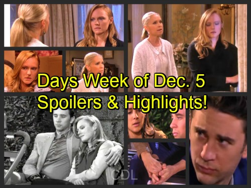 'Days of Our Lives' Spoilers: Week of December 5 – Stunning Secrets, Crushing Blows and Unraveling Mysteries