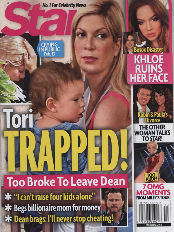 Dean McDermott Still Cheating On Tori Spelling, Tells Friends He'll Always Cheat (PHOTO
