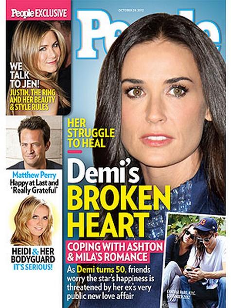 Demi Moore's Broken Heart: How She's Coping With Ashton Kutcher & Mila's Kunis' Romance