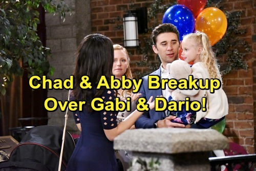 Days of Our Lives Spoilers: Chad and Abby Grow Closer Before Breakup - Gabi and Dario Pull Couple Apart