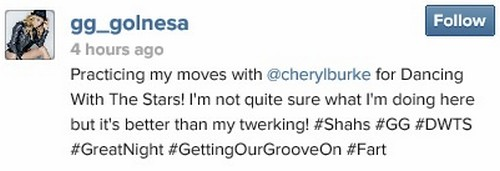 Dancing With The Stars Season 18 Cast Spoiler: GG of Shahs Of Sunset Practice With Cheryl Burke