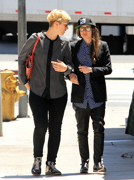 Ellen Page Hugs Kelly Bush  X-Men Star Spotted Getting Friendly With    Ellen Page Girlfriend 2011