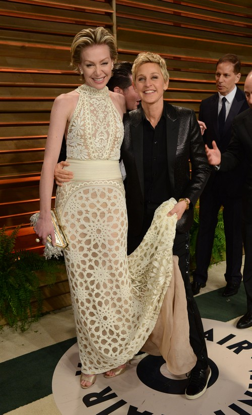 Ellen DeGeneres and Portia de Rossi Break Up Looms - Portia Buying an Apartment and Moving Out of Ostentatious Mansion
