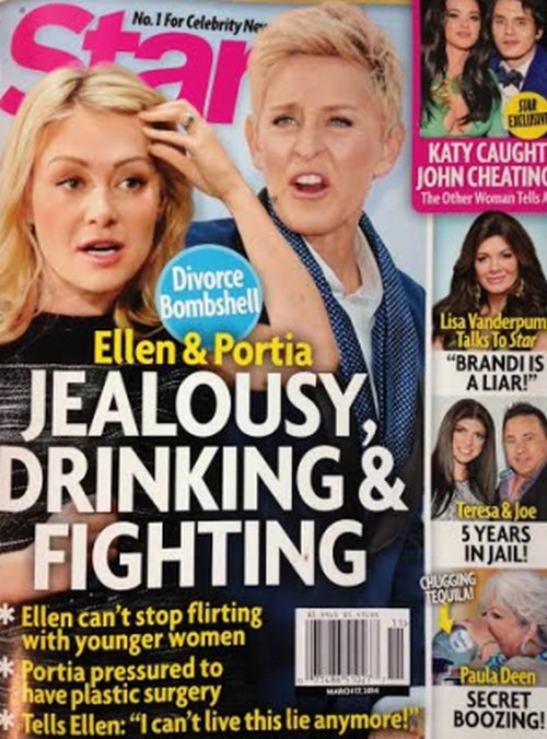 Ellen DeGeneres and Portia de Rossi Divorce Looms After Ellen Caught Cheating? (PHOTOS)