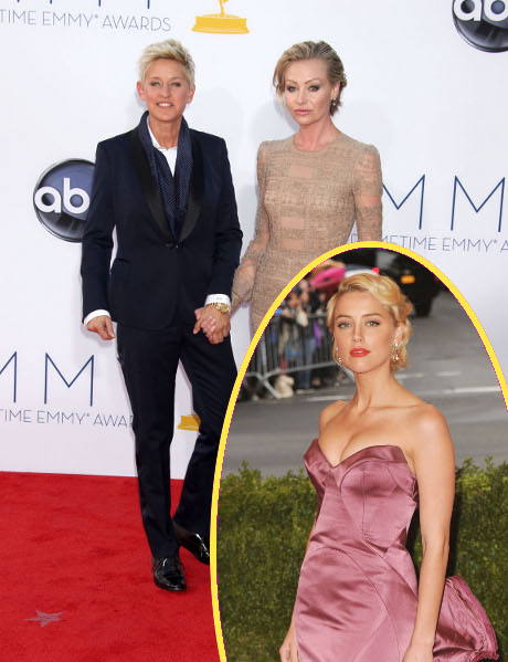 Amber Heard Makes Her Move On Ellen DeGeneres: Portia Rossi In A Jealous Rage!