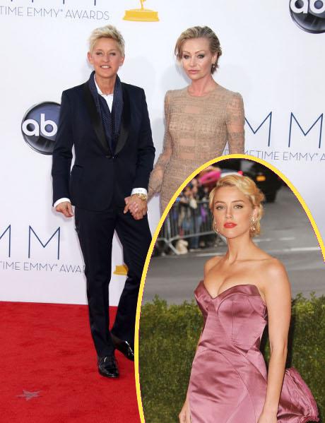 Amber Heard Makes Her Move On Ellen DeGeneres: Portia Rossi In A Jealous Rage!