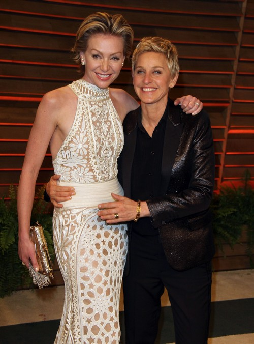 Ellen DeGeneres and Portia de Rossi Vanity Fair Party Appearance To Fight Marriage Trouble Rumors (PHOTOS)