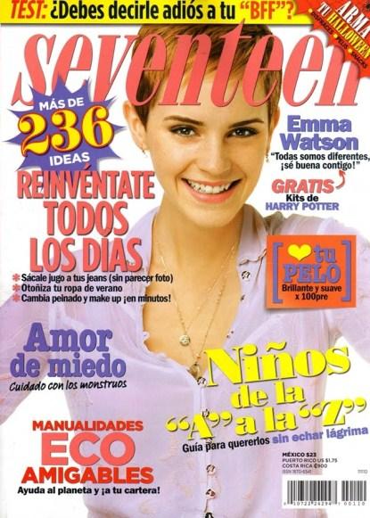 Emma Watson Covers Seventeen Magazine Mexico