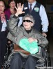 Emmanuelle Riva Arriving On A Flight At LAX