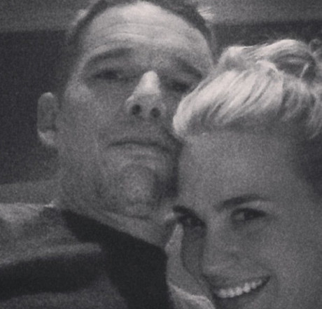 Ethan Hawke's Wife Ryan Fears Cheating Affair With New Costar January Jones