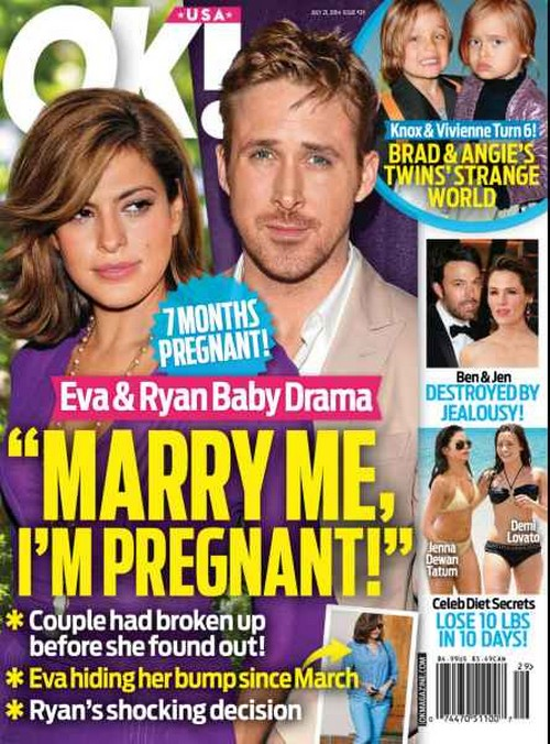 Eva Mendes Pregnant With Ryan Gosling's Baby - First Child Pregnancy 7 Months Along