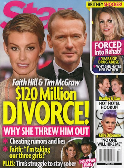 Faith Hill and Tim McGraw $120 Million Divorce and Custody Battle After Cheating Rumors