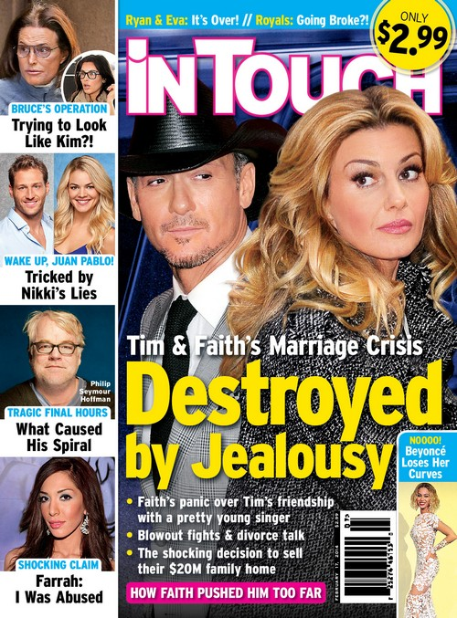 Tim McGraw And Faith Hill Break Up and Divorce: Marriage 'Destroyed' By Jealousy (PHOTO)
