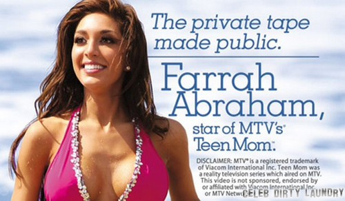 MTV Stops Farrah Abraham's Sex Tape Release - Teen Mom Under Contract?
