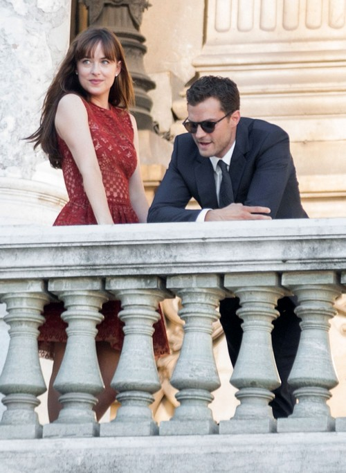 Jamie Dornan, Dakota Johnson and Crew Filming 'Fifty Shades Darker' at Palais Garnier in Paris: Update - New Photos on Set