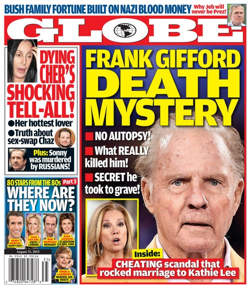 GLOBE: Frank Gifford Death Mystery - Cheating Scandal that Rocked Kathie Lee Marriage (PHOTO)