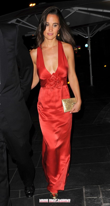 Pippa Middleton Bares Her Breasts In Red Hot Dress - Photos