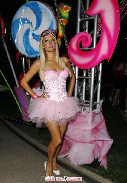 Paris Hilton At The 6th Annual Kandyland Party at the Playboy Mansion - Photos