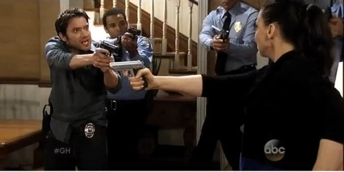 General Hospital Spoilers April 2014: Britt, Lulu, or Elizabeth Shot by Dr. Obrecht During Arrest - Luke's Imposter Seeks Deadly Revenge