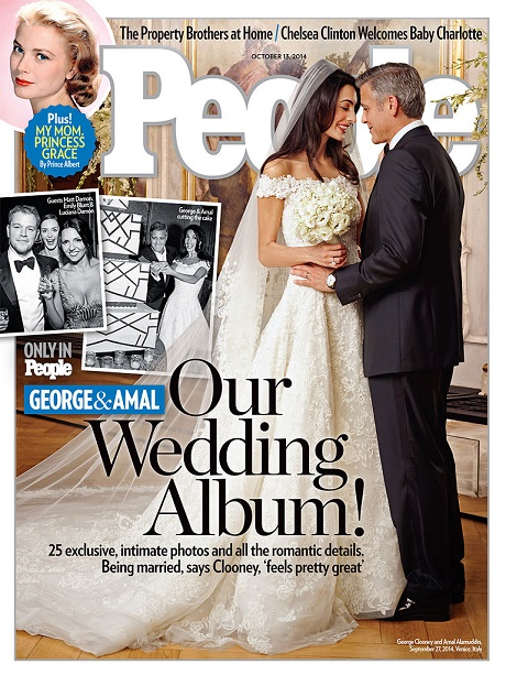 George Clooney, Amal Alamuddin Wedding Photos Cover People Magazine - All The Intimate Details, Plus Amal's Gorgeous Gown! (PHOTOS)