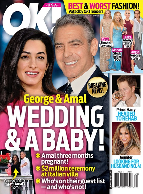 George Clooney And Amal Alamuddin Wedding: She's 3 Months Pregnant - The Reason For The Hasty Plans! (PHOTO)