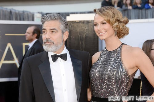 George Clooney & Stacy Keibler Not Breaking Up