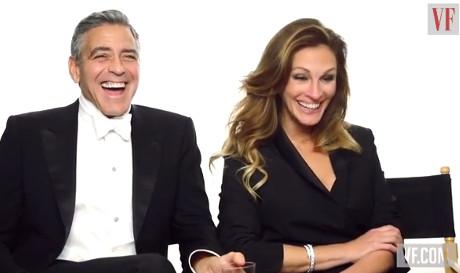 George Clooney And Julia Roberts Take A Jab At Gwyneth Paltrow At Vanity Fair's 2014 Hollywood Cover Shoot! (VIDEO)