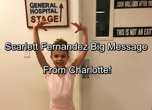 General Hospital Spoilers: Scarlett Fernandez Big Announcement To GH Fans From Charlotte Cassadine