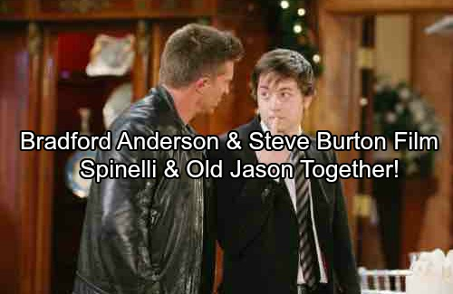 General Hospital Spoilers: Spinelli and Old Jason Together Again – Bradford Anderson and Steve Burton Reunite for Exciting Scenes