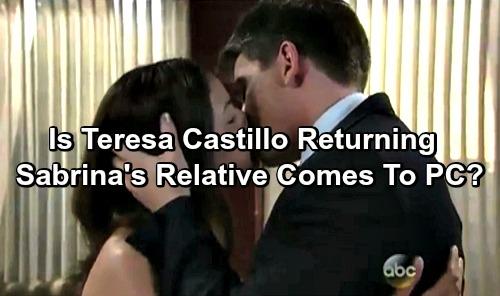 General Hospital Spoilers: Teresa Castillo Returning as Sabrina's Relative - Love Interest For Michael?