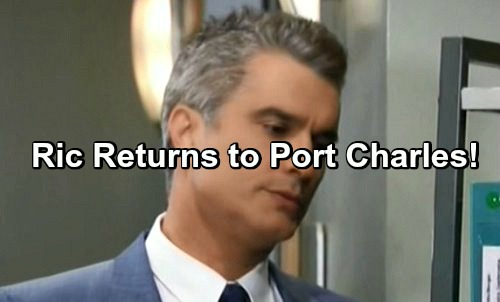General Hospital Spoilers: Is Ric Lansing Returning To Port Charles - Takes On Nelle?
