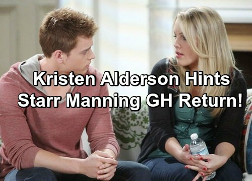 General Hospital Spoilers: Kristen Alderson Hints at Starr Manning GH Return