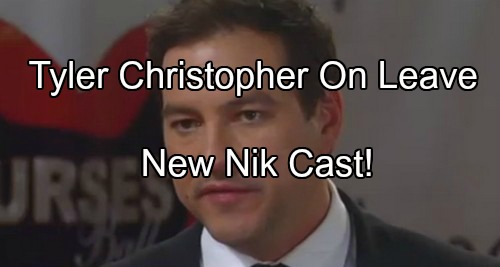 General Hospital (GH) Spoilers: Nikolas Recast as Nick Stabile – Tyler Christopher Contract Trouble, Requests Time Off