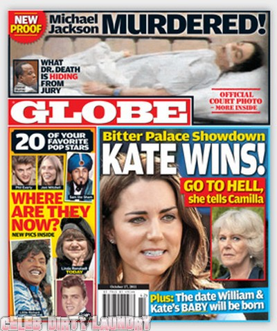 Globe Magazine: Kate Middleton Wins Palace Showdown - Photo