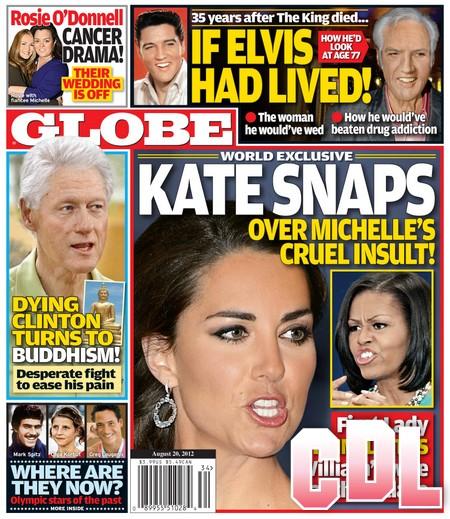 GLOBE: Kate Middleton Snaps Over Michelle Obama's Cruel Insult! (Photo)