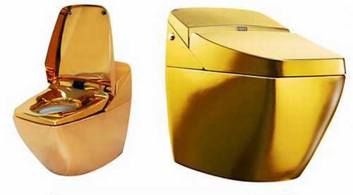 Kim Kardashian And Kanye West Spending Hundreds Of Thousands Of Dollars On Gold Plated Toilets?