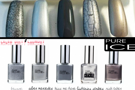 CDL Giveaway: 'Fifty Shades of Grey' Inspired Nail Polish -- 5 Shades of Grey by Pure Ice