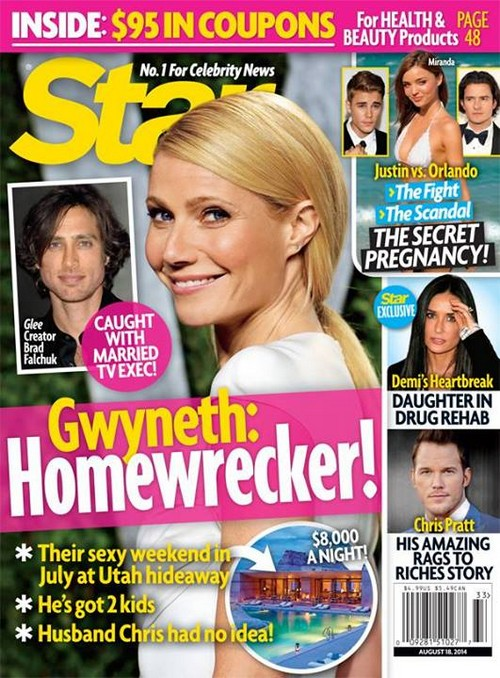 Gwyneth Paltrow Dating and Cheating with Married Glee Creator Brad Falchuk - Chris Martin Betrayed Again (PHOTO)