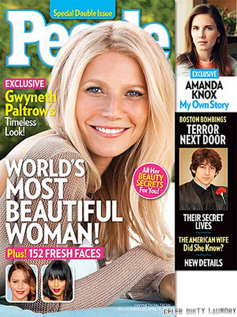 Gwyneth Paltrow Most Beautiful Woman In The World Says People Magazine (PHOTO)