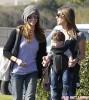 Semi-Exclusive... Jillian Michaels And Heidi Rhoades Take The Kids To The Farmer's Market