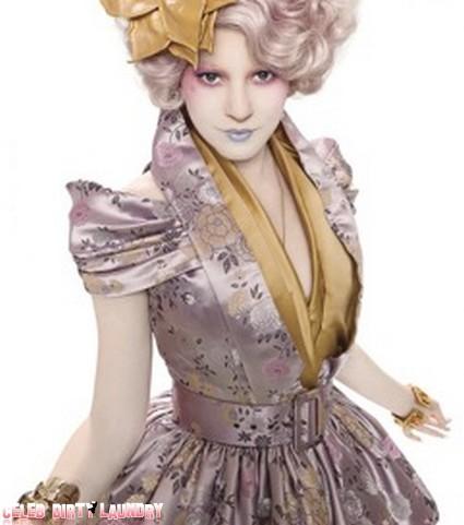 First Look at Elizabeth Banks' Effie Trinket Costume for Hunger Games (Photo)