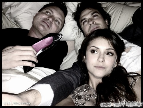 Ian Somerhalder & Nina Dobrev In Bed Together - Hot Lovers (Photo)