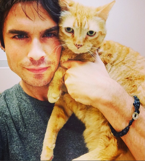 Ian Somerhalder Sexy Instagram Love Pic - Who Is It? - 'Vampire Diaries' Season 6 First Day Shooting (PHOTO)