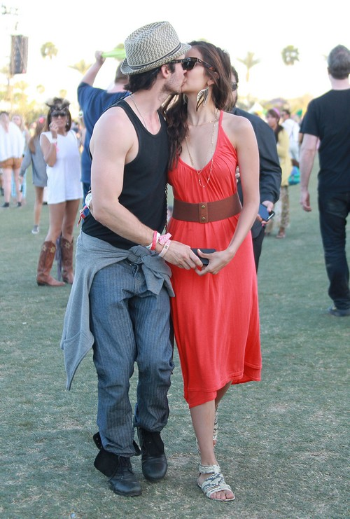 Ian Somerhalder and Nina Dobrev Hooking Up At Coachella?