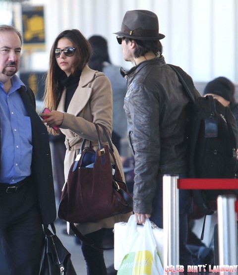 Ian Somerhalder and Nina Dobrev Love Relationship At Risk - Spend Weekend Apart, Split Imminent?